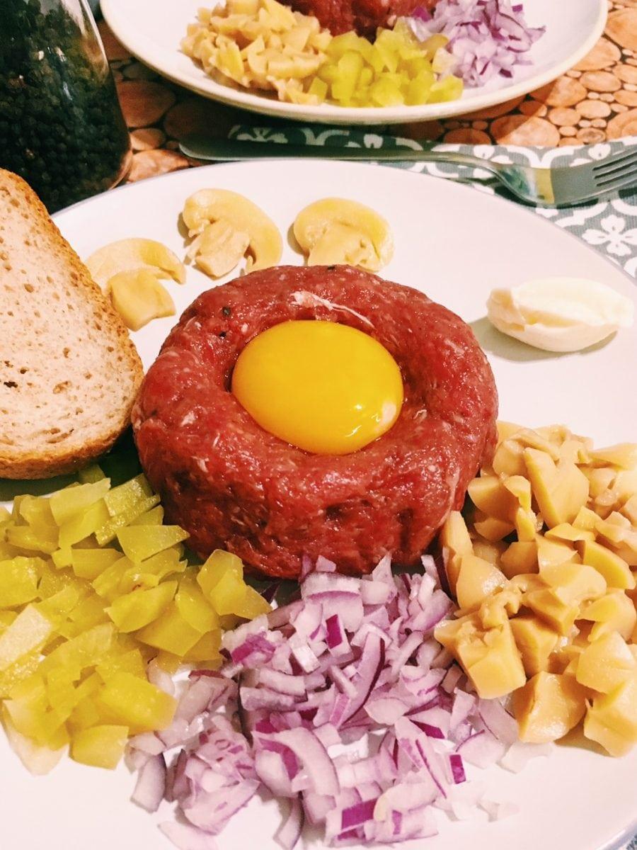 Tatar z mięsa wołowego