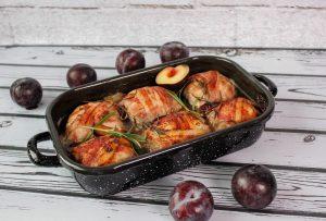 Rolady wieprzowe z mięsem mielonym i śliwką