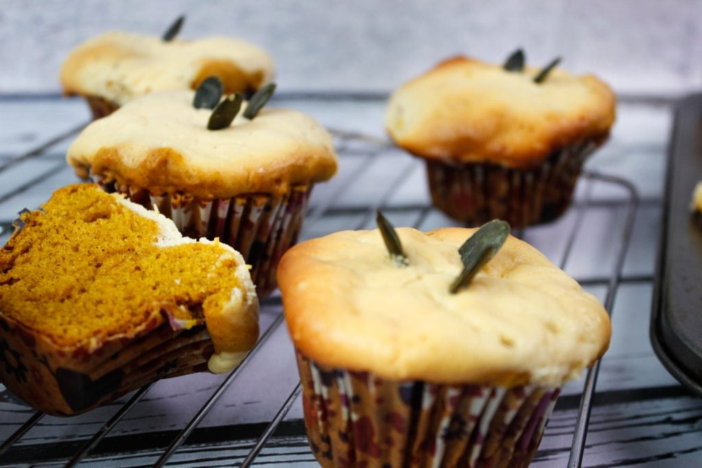 muffiny z dyni i sera