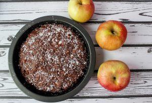 Ciasto wegańskie z jabłkami