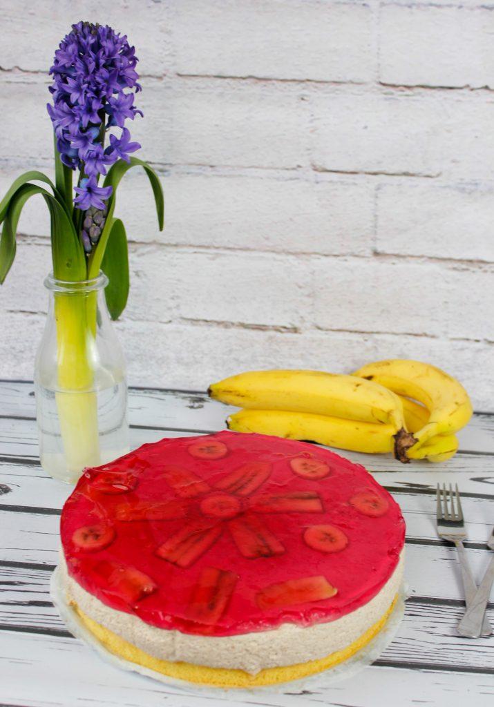 Bananowiec z masą bananową