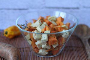 Słodkie ziemniaki z tofu