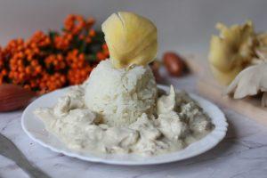 Kurczak w sosie estragonowo-musztardowym