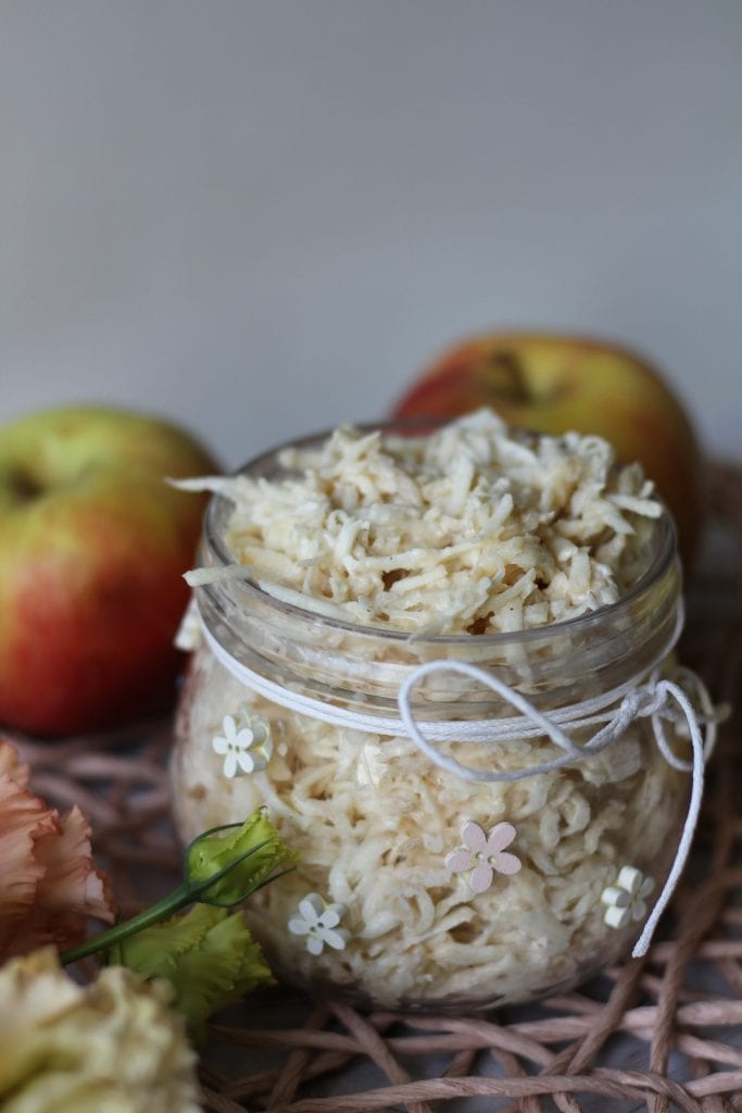 Celeriac and apple salad