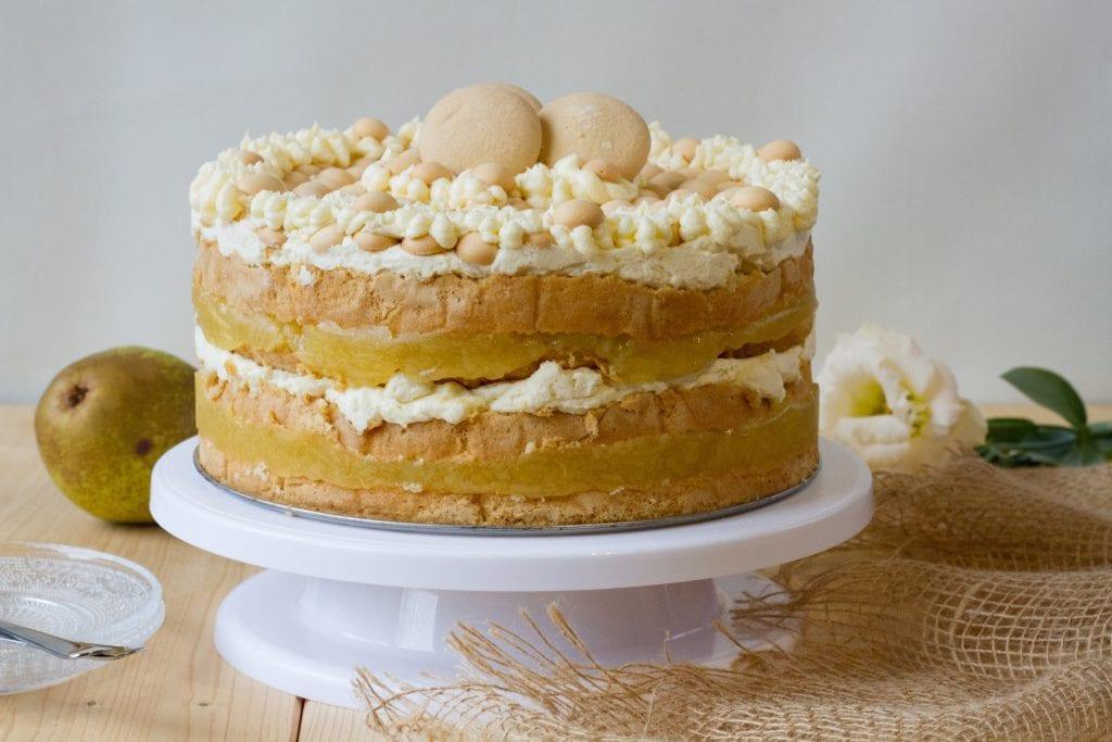 Tort gruszkowy z galaretką