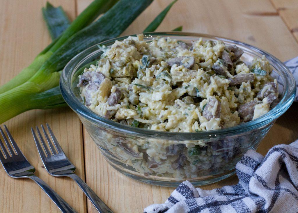 Sałatka z ryżem i karczochami
