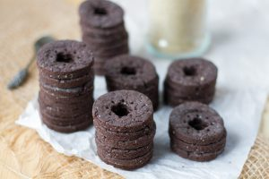 Ciasteczka kakaowe z brązowym cukrem