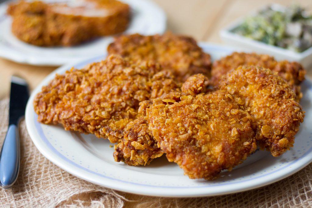 Chicken in cornflakes