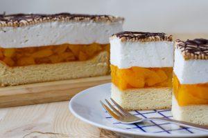 Ciasto brzoskwiniowe z galaretką
