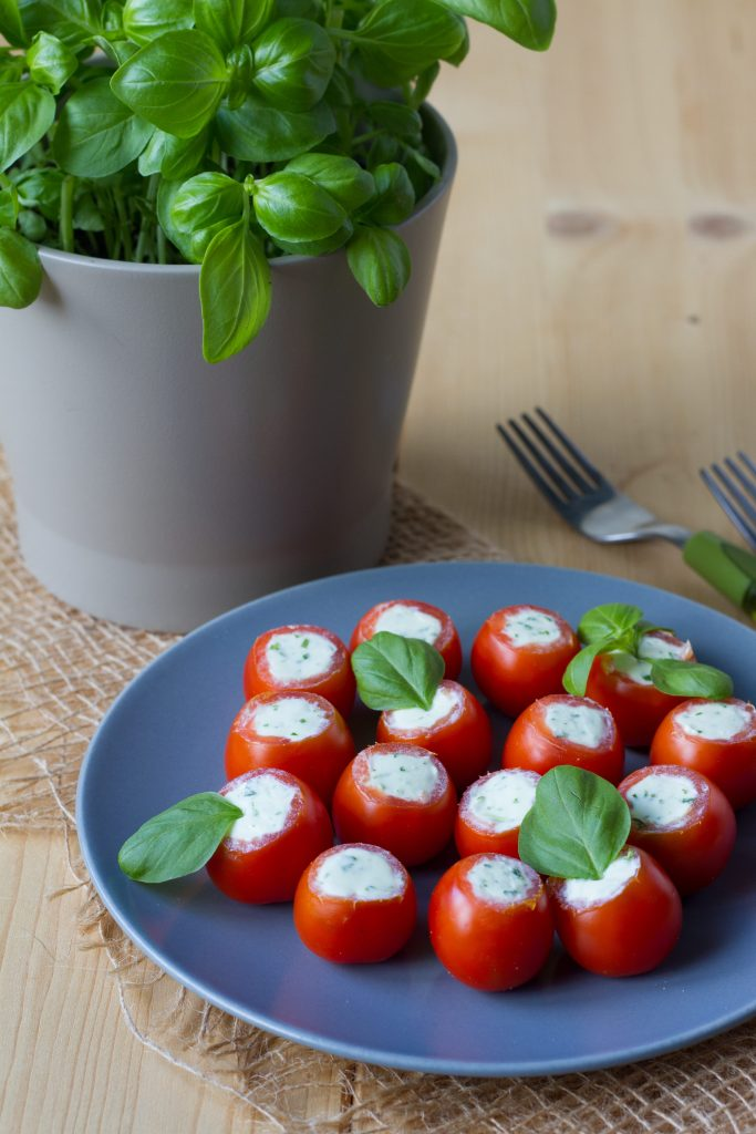 Feta cheese stuffed tomatoes