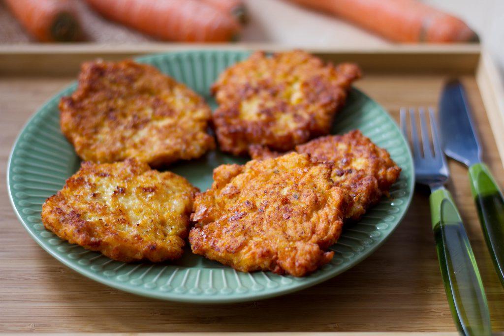 Placki z kurczaka i marchewki