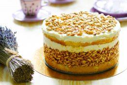 Ciasto biały lion z ryżem preparowanym